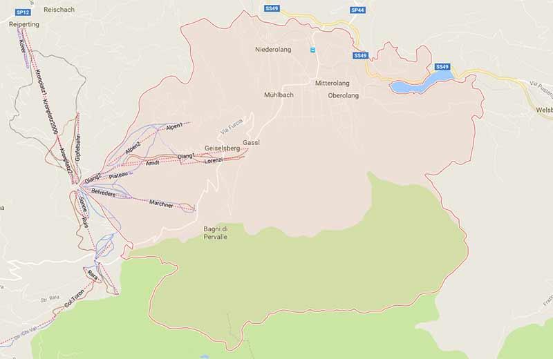 Sudtirol Karte Osterreich Italien.Karte Anreise Nach Olang Im Pustertal Sudtirol