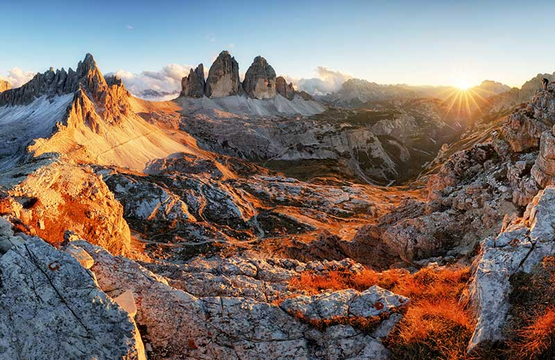 Dolomites map | Italy | Where to stay in the Dolomites on